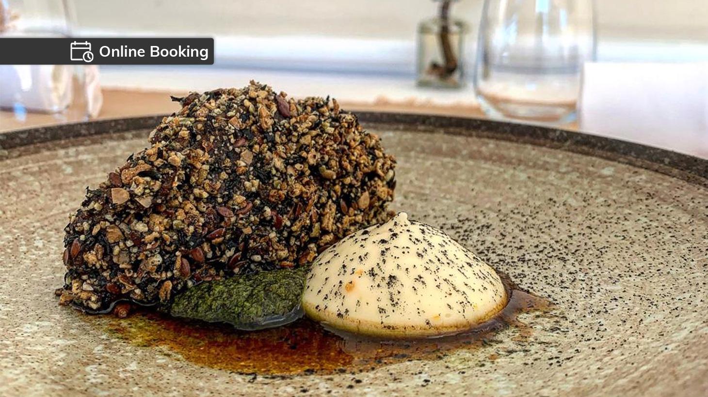 Tajima Wagyu beef cheek served at Cottage Point Inn