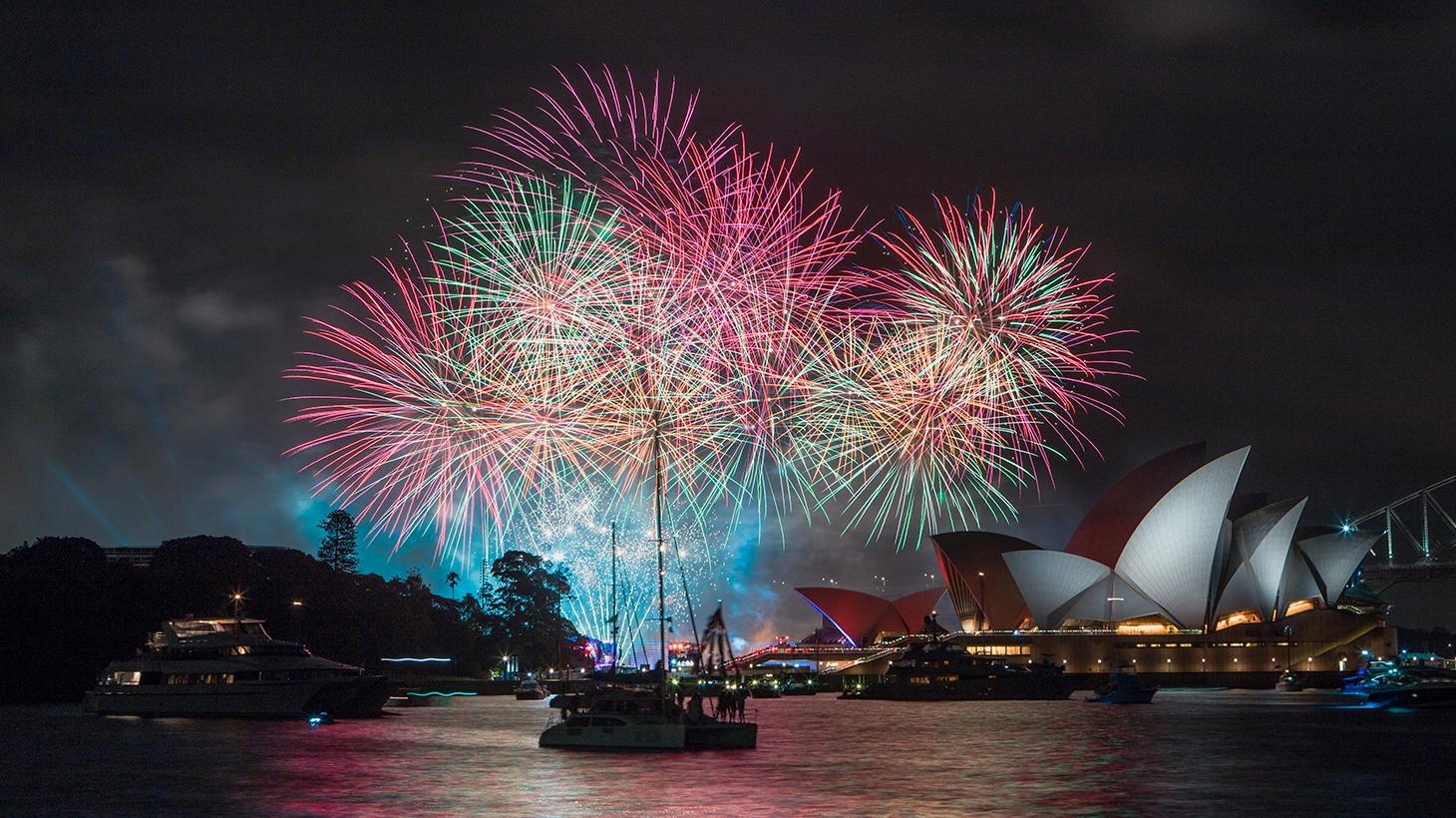 Australia Day evening fireworks cruise