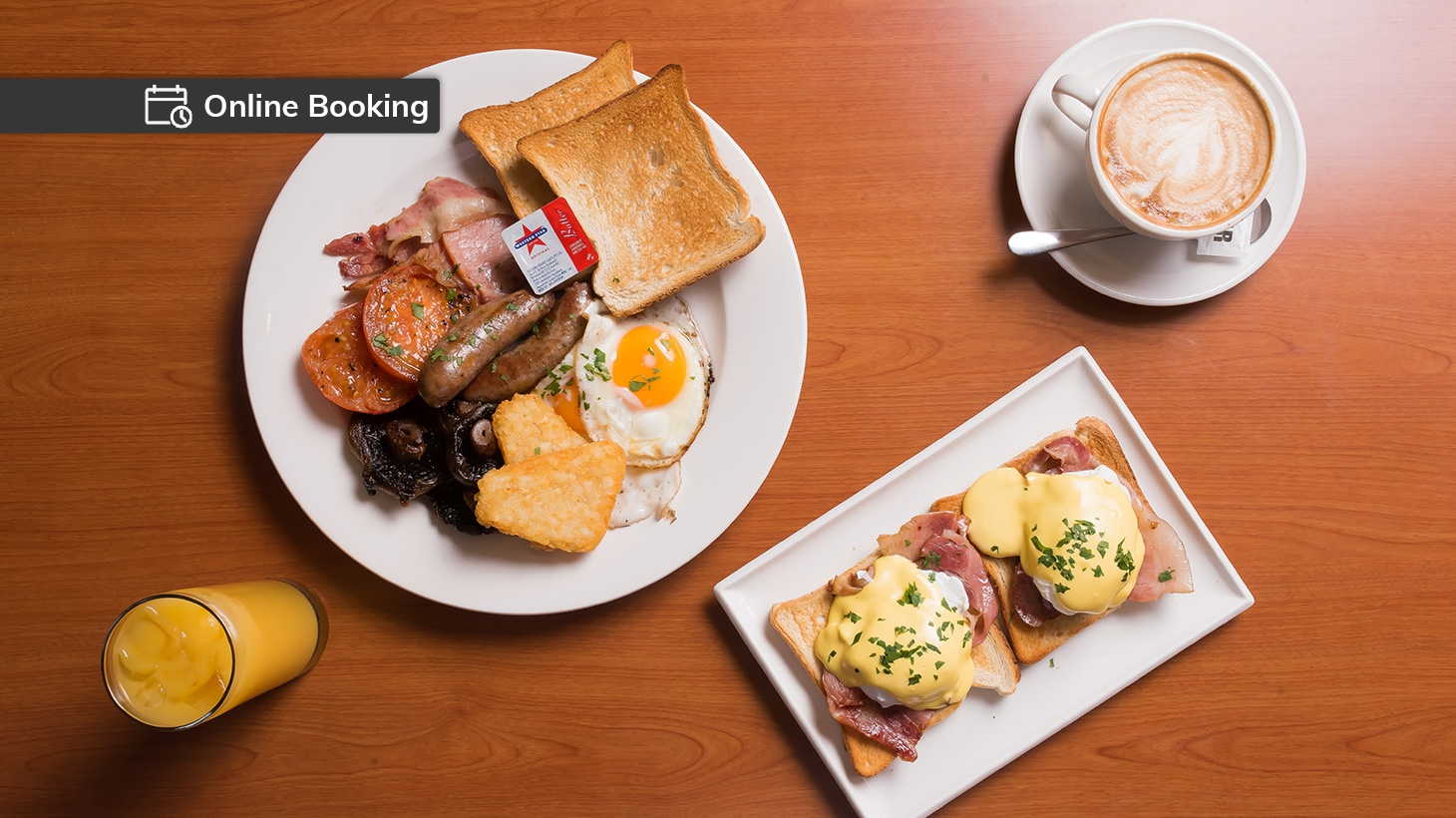 Breakfast for two with drinks served at The Hahndorf Old Mill