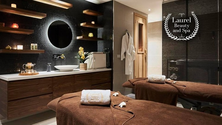 Interior showing massage beds and spa sink at Laurel Beauty and Spa