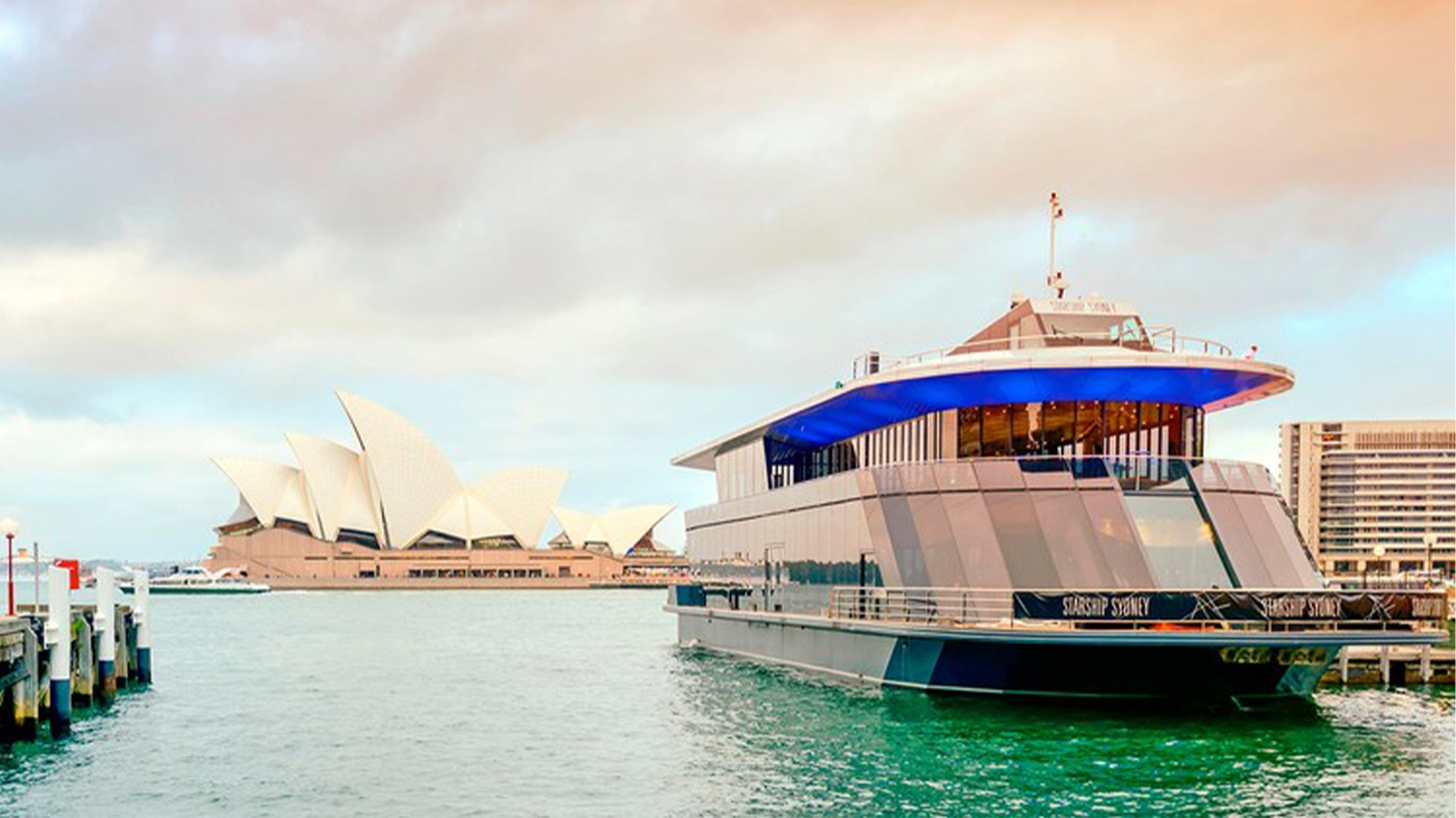 Cruise ship along Sydney Harbour