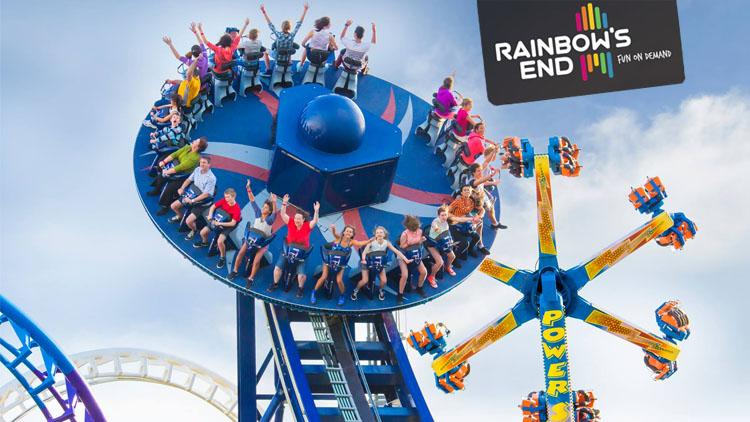 $45 for a Superpass incl. Admission & Unlimited Rides + $5 Park Voucher from Rainbow's End