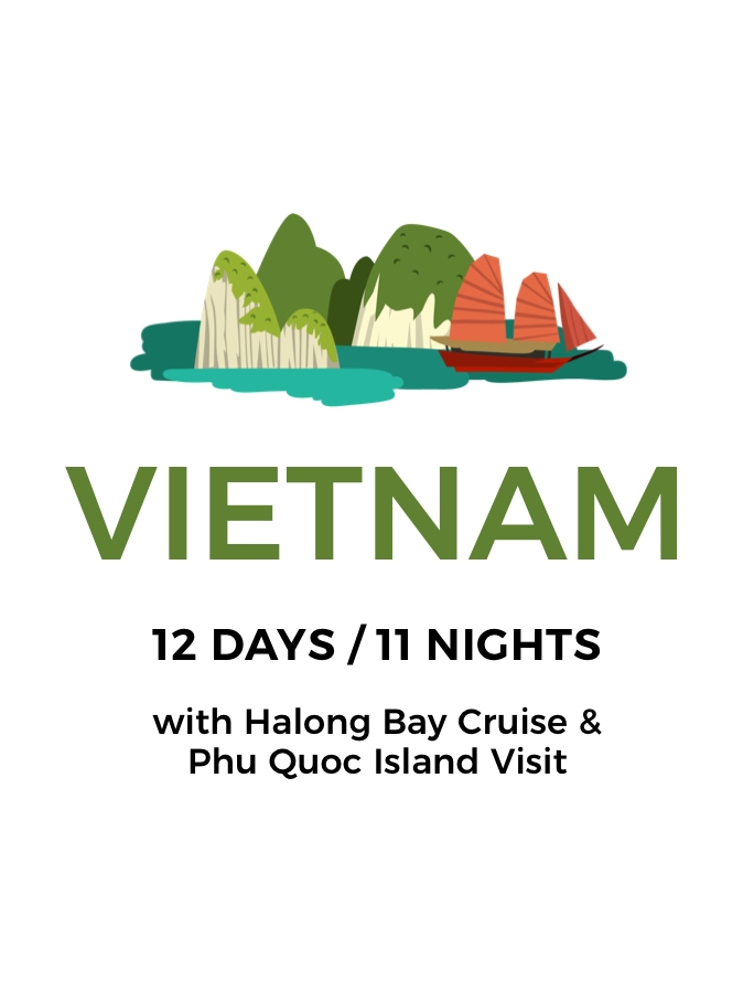 Enchanting Vietnam: A 12-Day Tour Including Halong Bay Cruise and Phu Quoc Island Stay