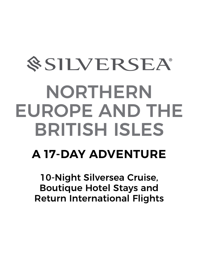 Northern Europe and British Isles: A 17-Day Adventure with Luxury Cruise, Boutique Hotel Stays and Return Flights