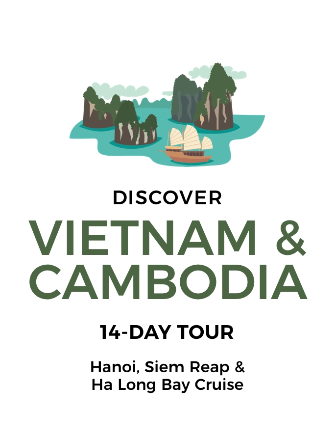 Wonders of Vietnam & Cambodia: 14-Day Tour of Hanoi, Ho Chi Minh City and Angkor Wat with Halong Bay Cruise