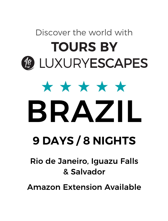 Brazil: A 9-Day Luxury Small-Group Tour with Belmond Stays, Salvador Cooking Class and Iguazu Falls Visit