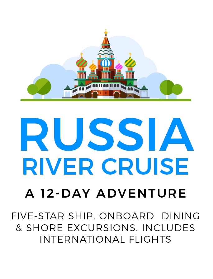 Russian River Cruise with International Return Flights: 12-Day Adventure