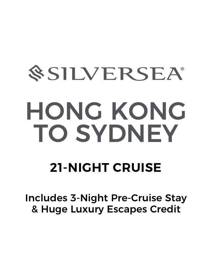 21-Night Hong Kong to Australia Cruise with 3-Night Pre-Cruise Stay and Huge Luxury Escapes Credit
