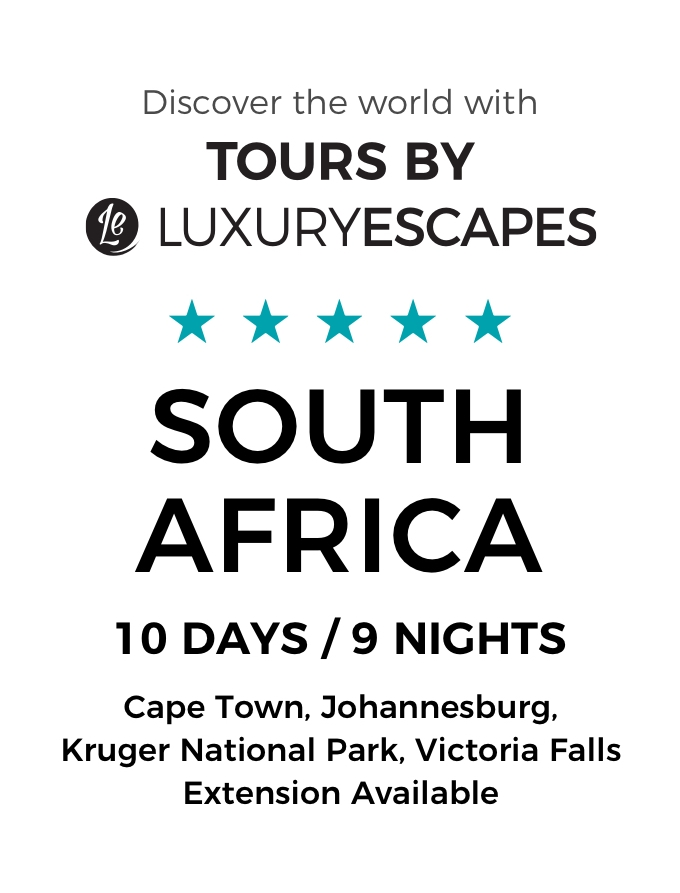 Private African Luxury For Two: Discover Cape Town & the Winelands with All-Inclusive Kruger Safari and Prestigious Blue Train Journey