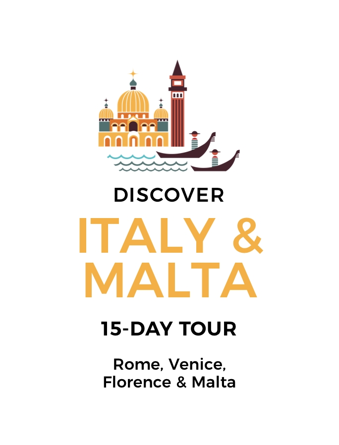 Discover Italy and Malta: A 15-Day Tour including Rome, Tuscany and Florence