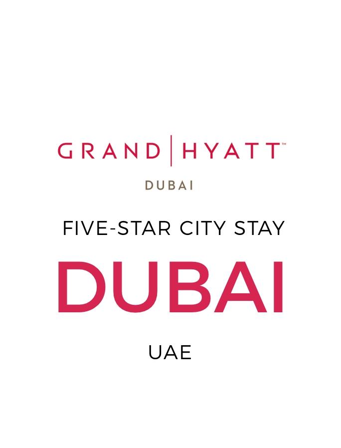 Five-Star Grand Hyatt Dubai Stay with Nightly Free-Flow Drinks