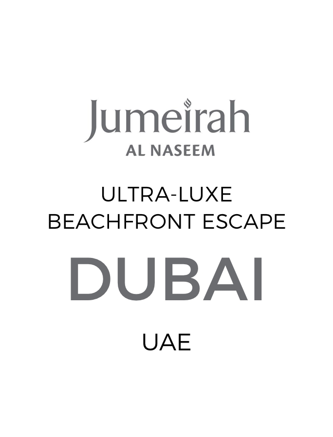 High-End Beachfront Dubai Escape with Daily Dining at over 40 Restaurants