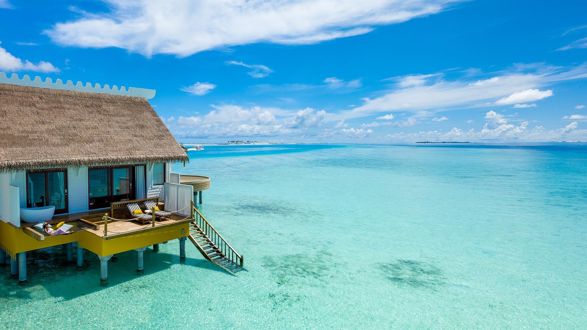 Overwater Villa  image 1 at SAii Lagoon Maldives, Curio Collection by Hilton by Kaafu Atoll, North Central Province, Maldives