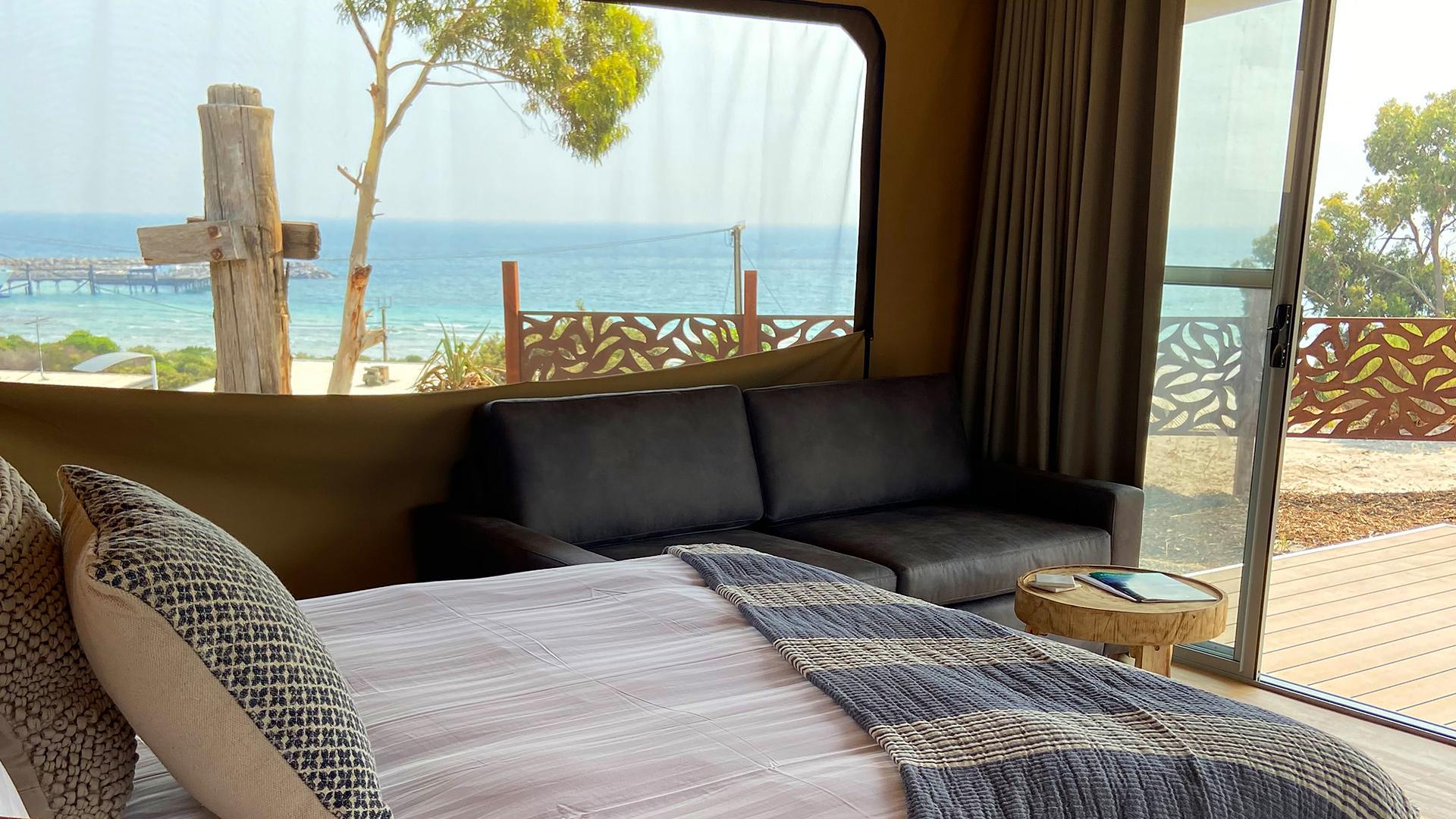 Eco-Luxury Tent image 1 at Seafront Kangaroo Island by Kangaroo Island Council, South Australia, Australia