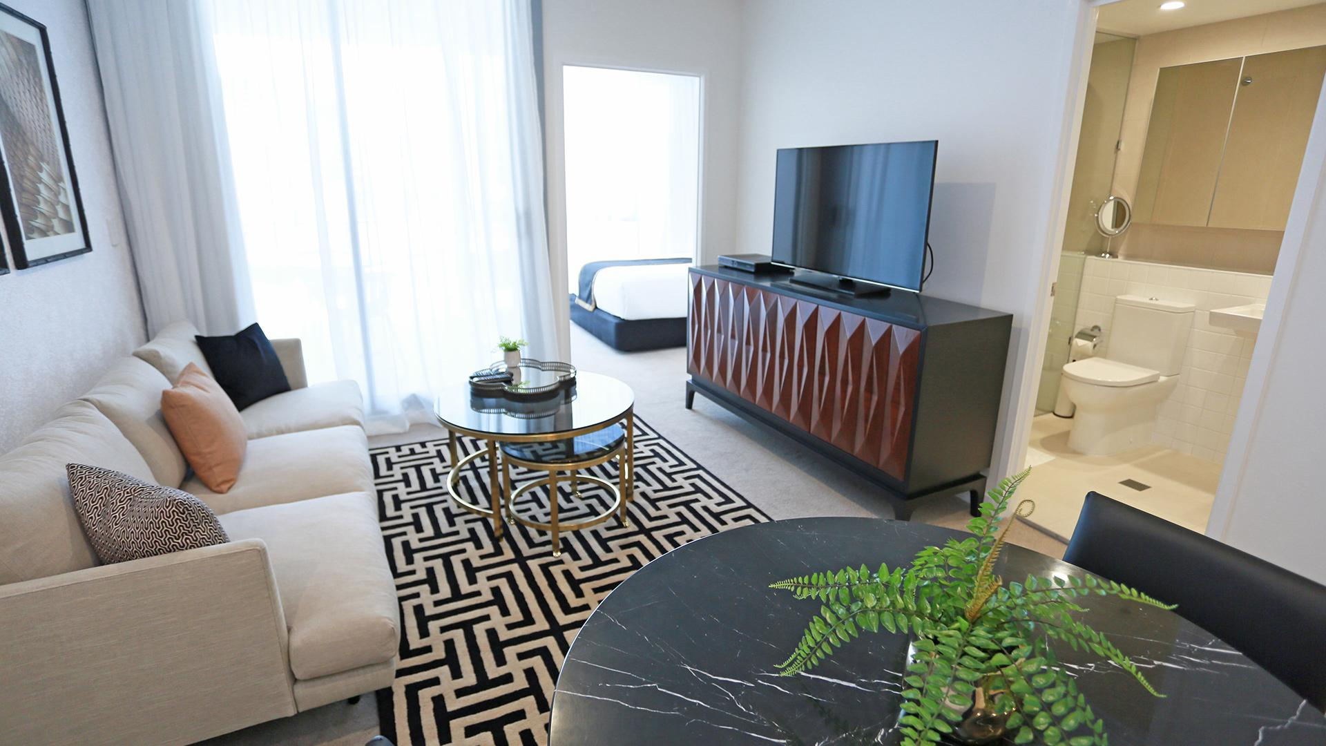 One Bedroom Executive Apartment image 1 at Alex Perry Hotel & Apartments by Brisbane City, Queensland, Australia