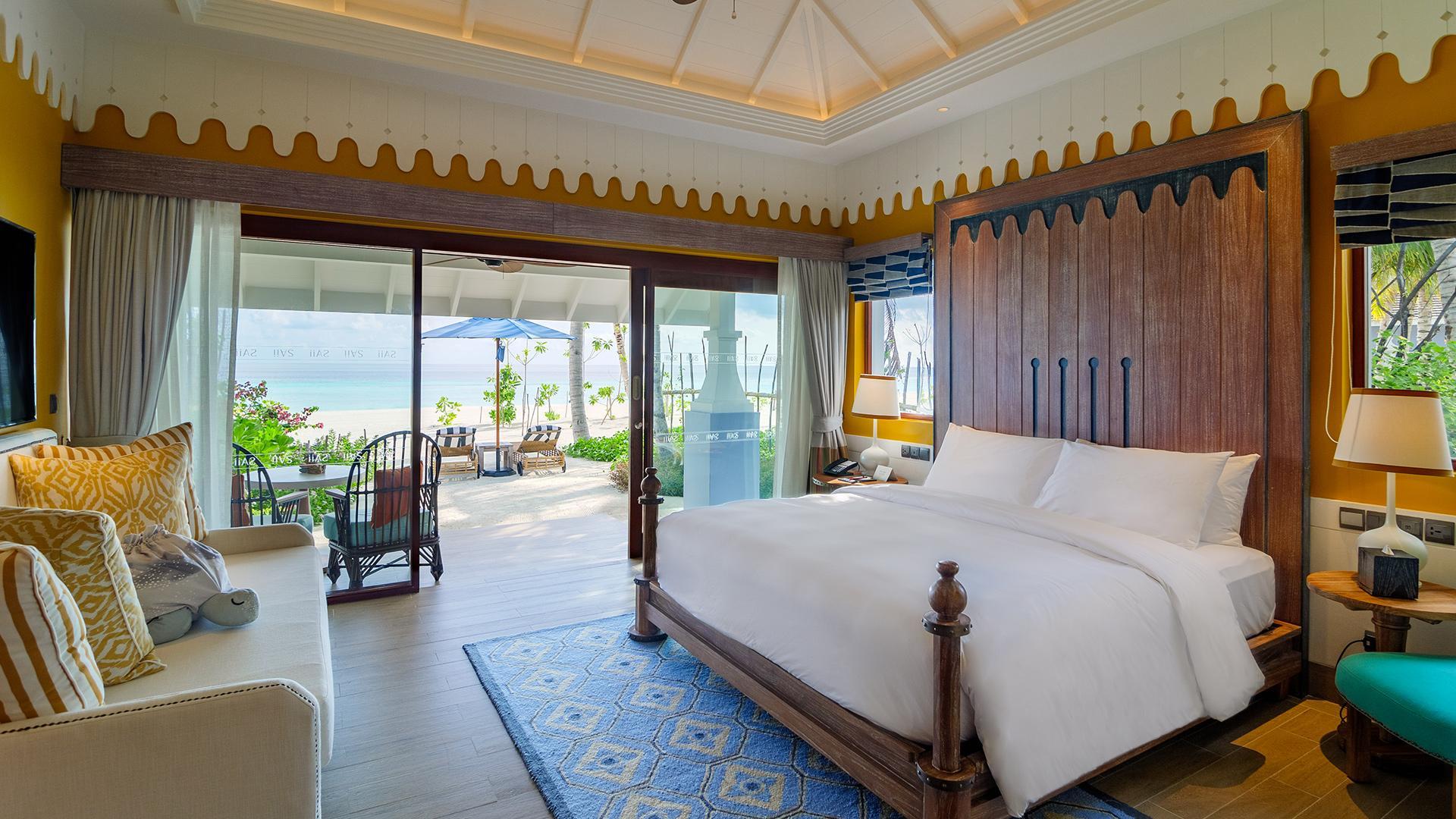 Beach Villa  image 1 at SAii Lagoon Maldives, Curio Collection by Hilton by Kaafu Atoll, North Central Province, Maldives