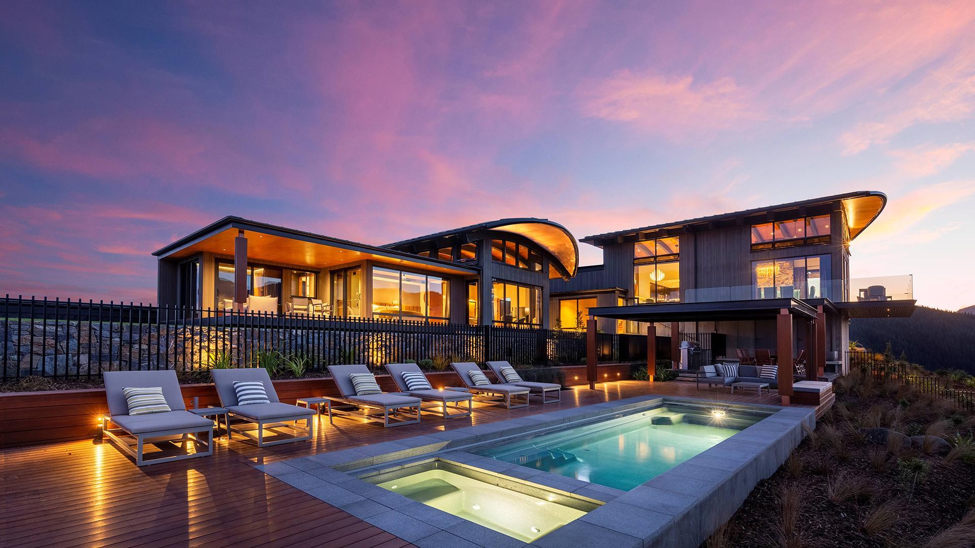 Entire Villa (Motueka Suite & Bunk Room, Kahurangi Suite and Tasman Suite) image 1 at Falcon Brae Villa by null, Tasman, New Zealand