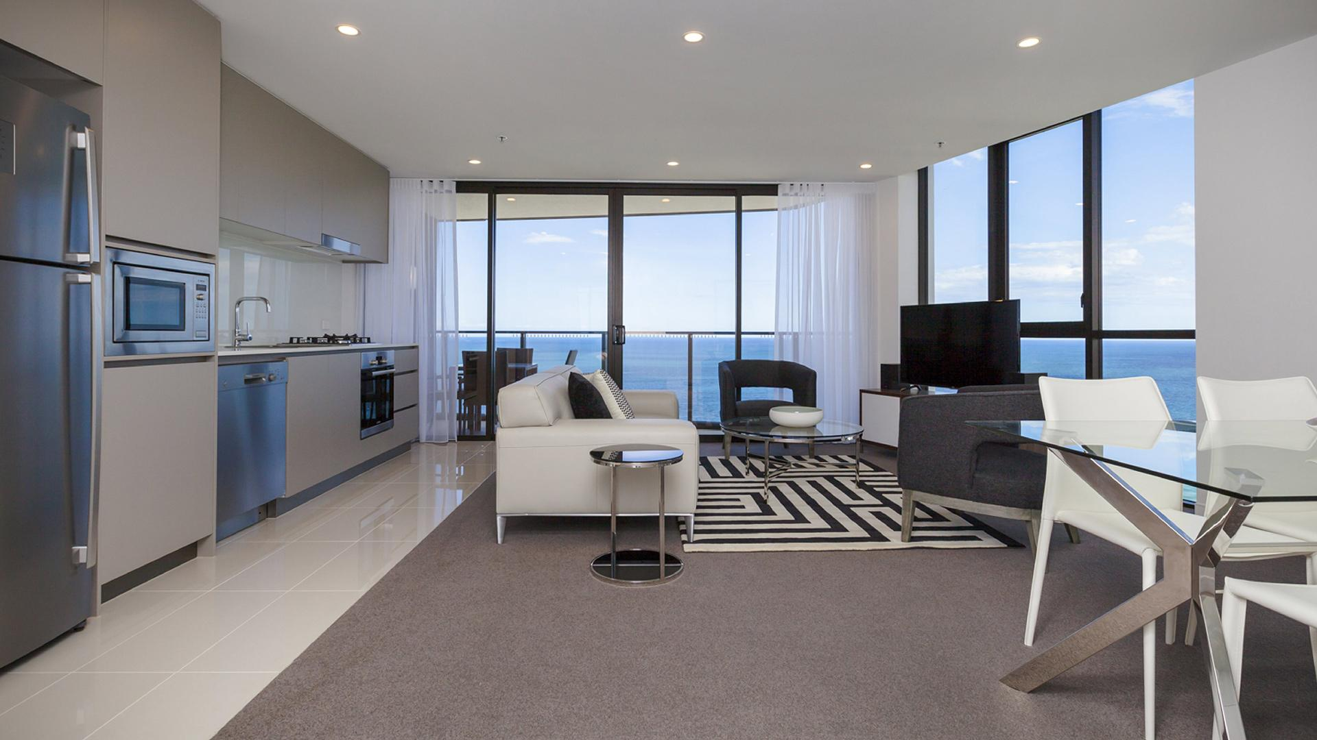 Two-Bedroom Ocean View Apartment - 3 Nights image 1 at Rhapsody Resort by City of Gold Coast, Queensland, Australia
