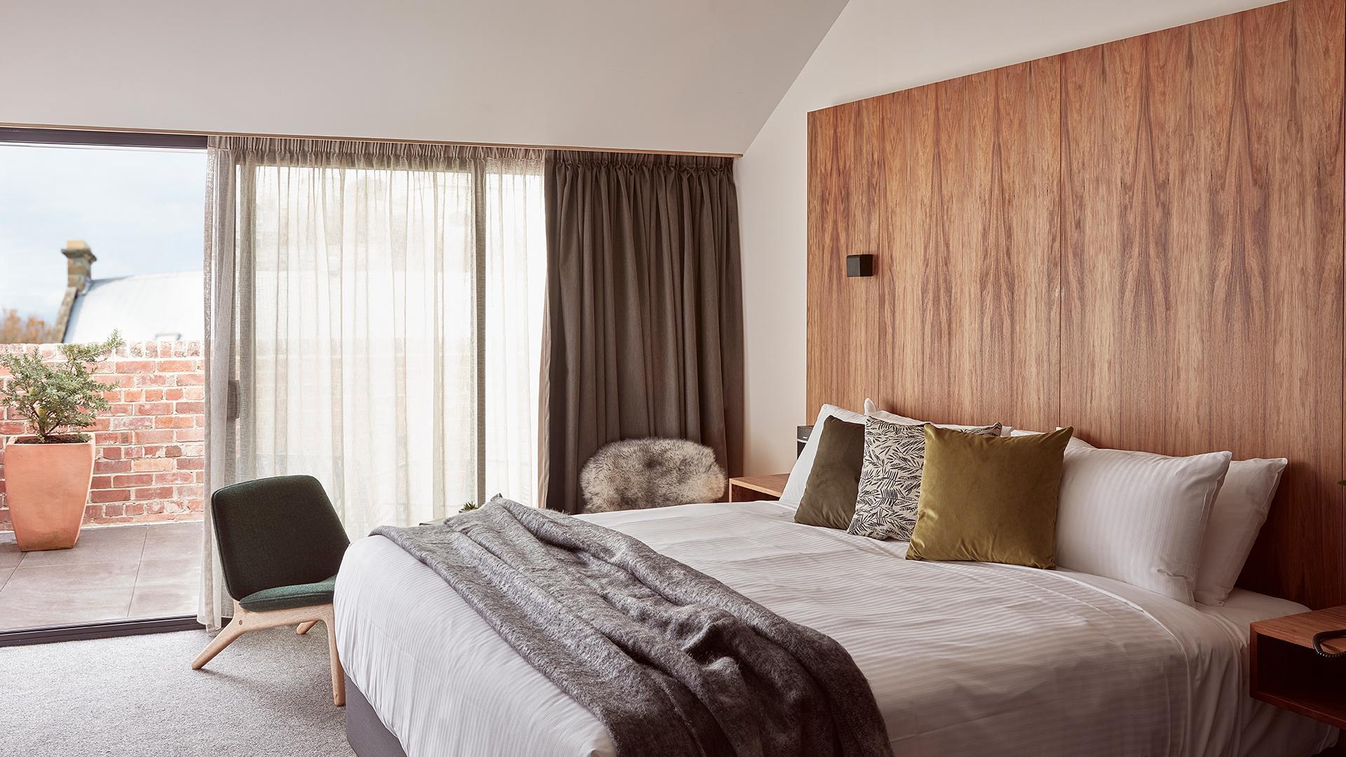 Superior King Room - Grove Balcony - Feb 20 image 1 at Moss Hotel by Hobart City Council, Tasmania, Australia