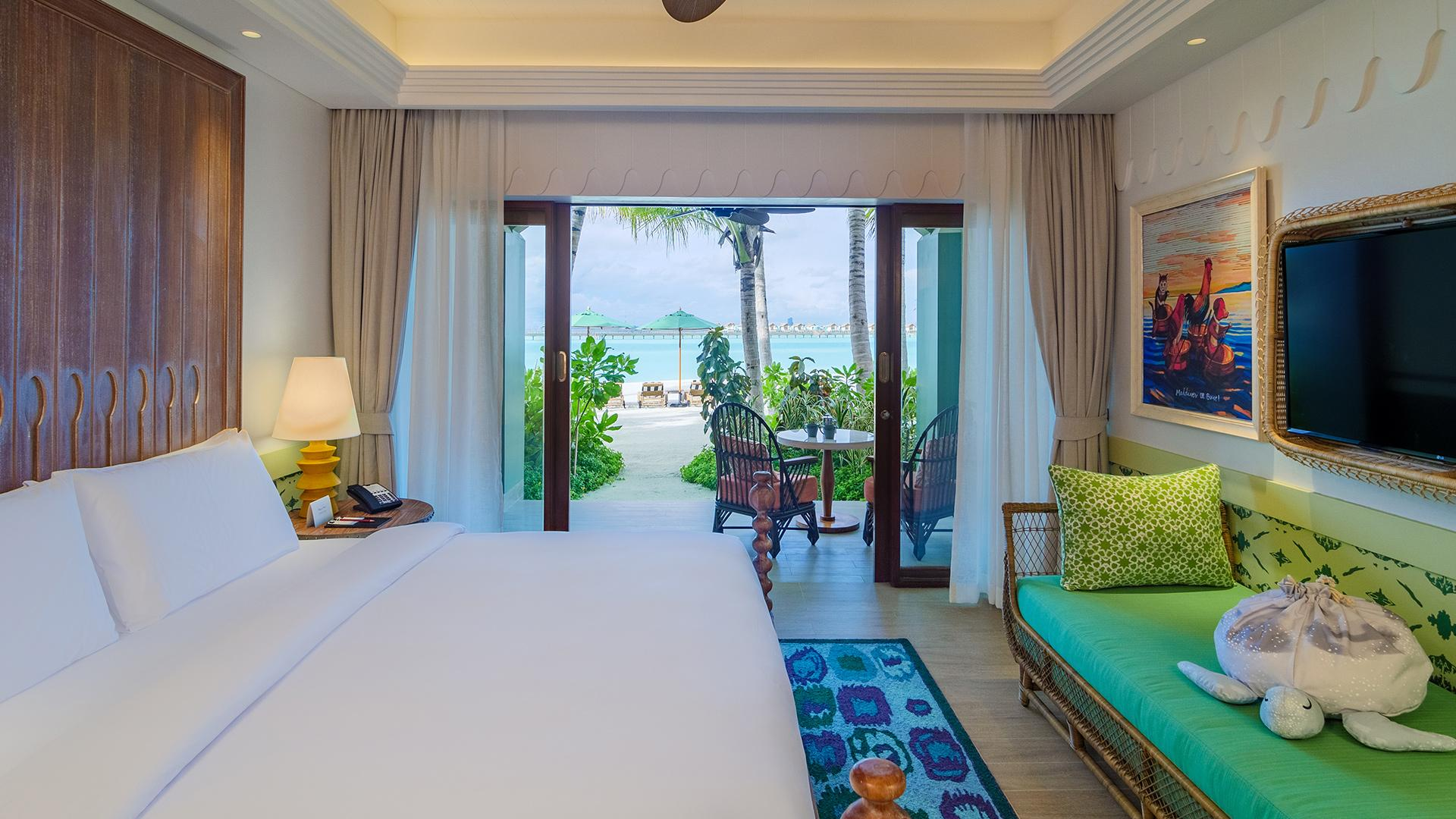 Beach Room  image 1 at SAii Lagoon Maldives, Curio Collection by Hilton by Kaafu Atoll, North Central Province, Maldives