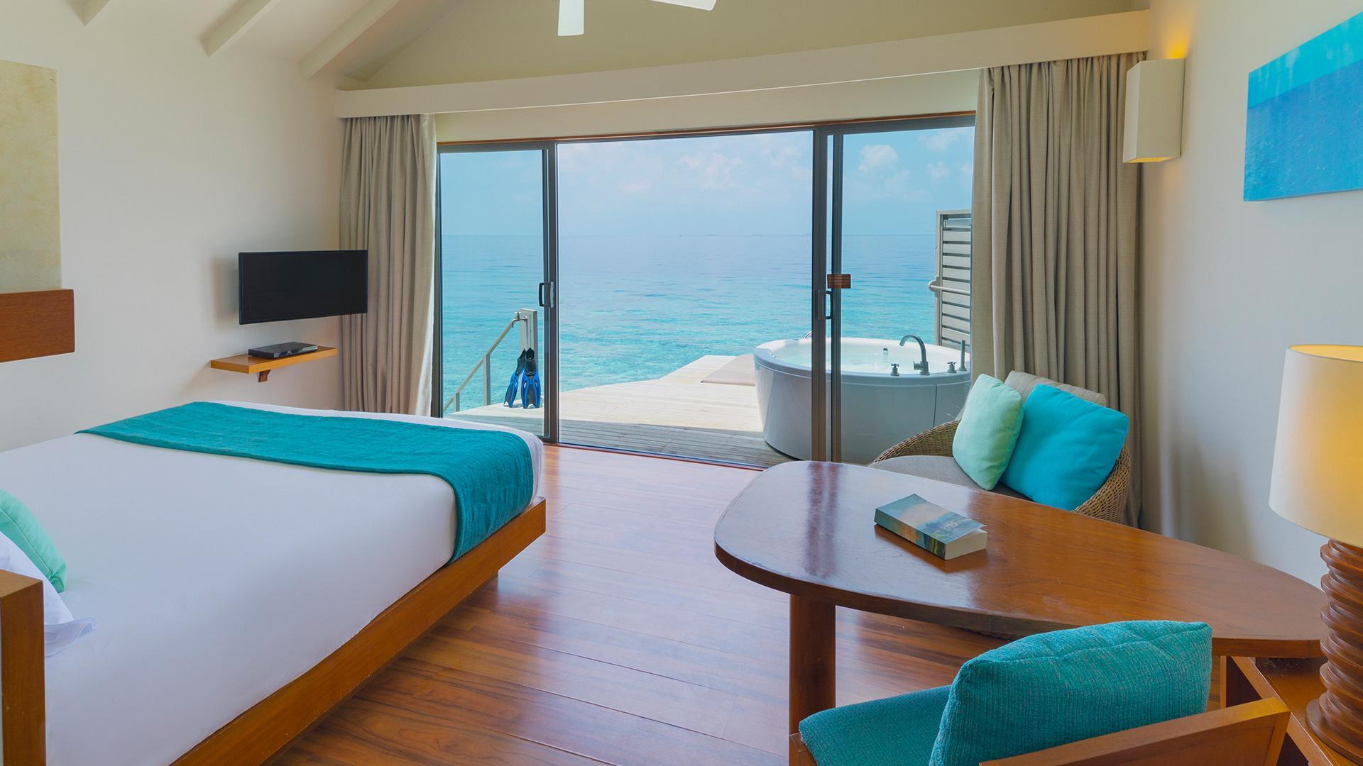 Deluxe Spa Overwater Villa image 1 at Centara Ras Fushi Resort & Spa Maldives by Kaafu Atoll, null, Maldives