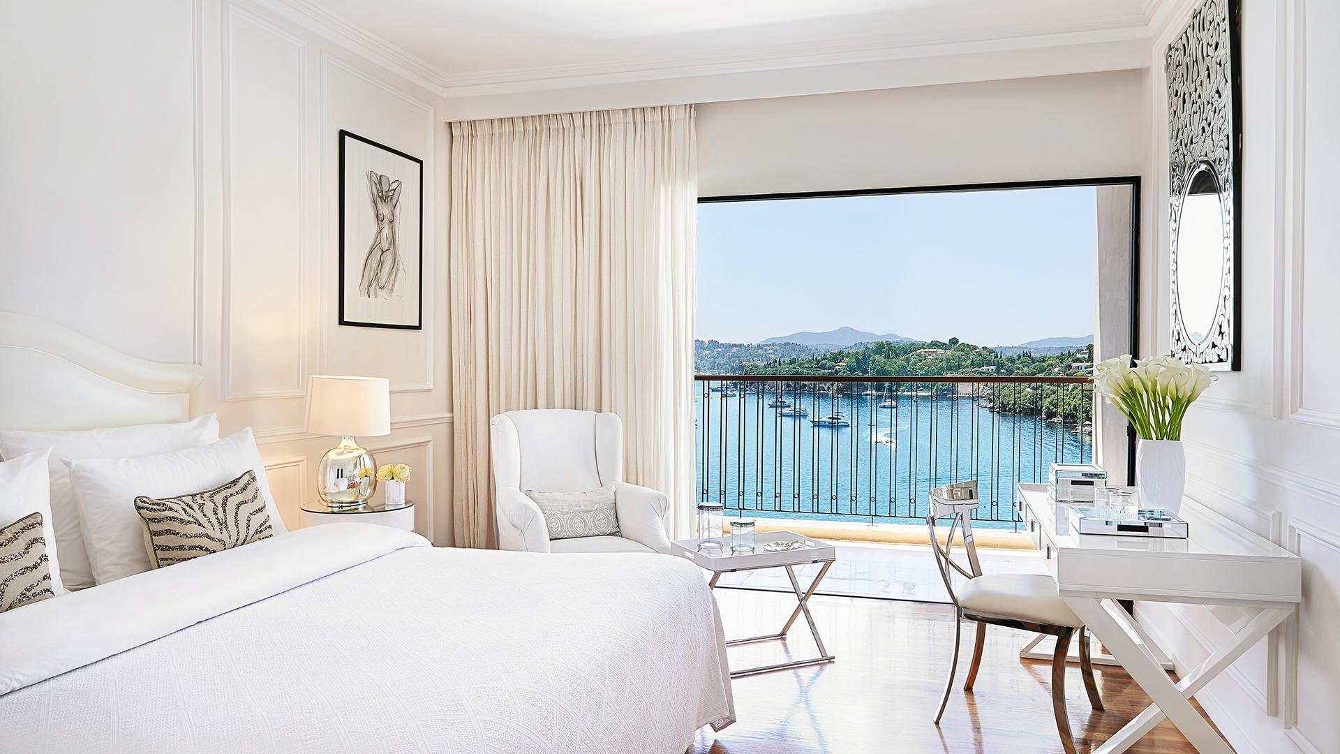 Deluxe Guestroom Seaview image 1 at Grecotel Corfu Imperial by null, null, Greece