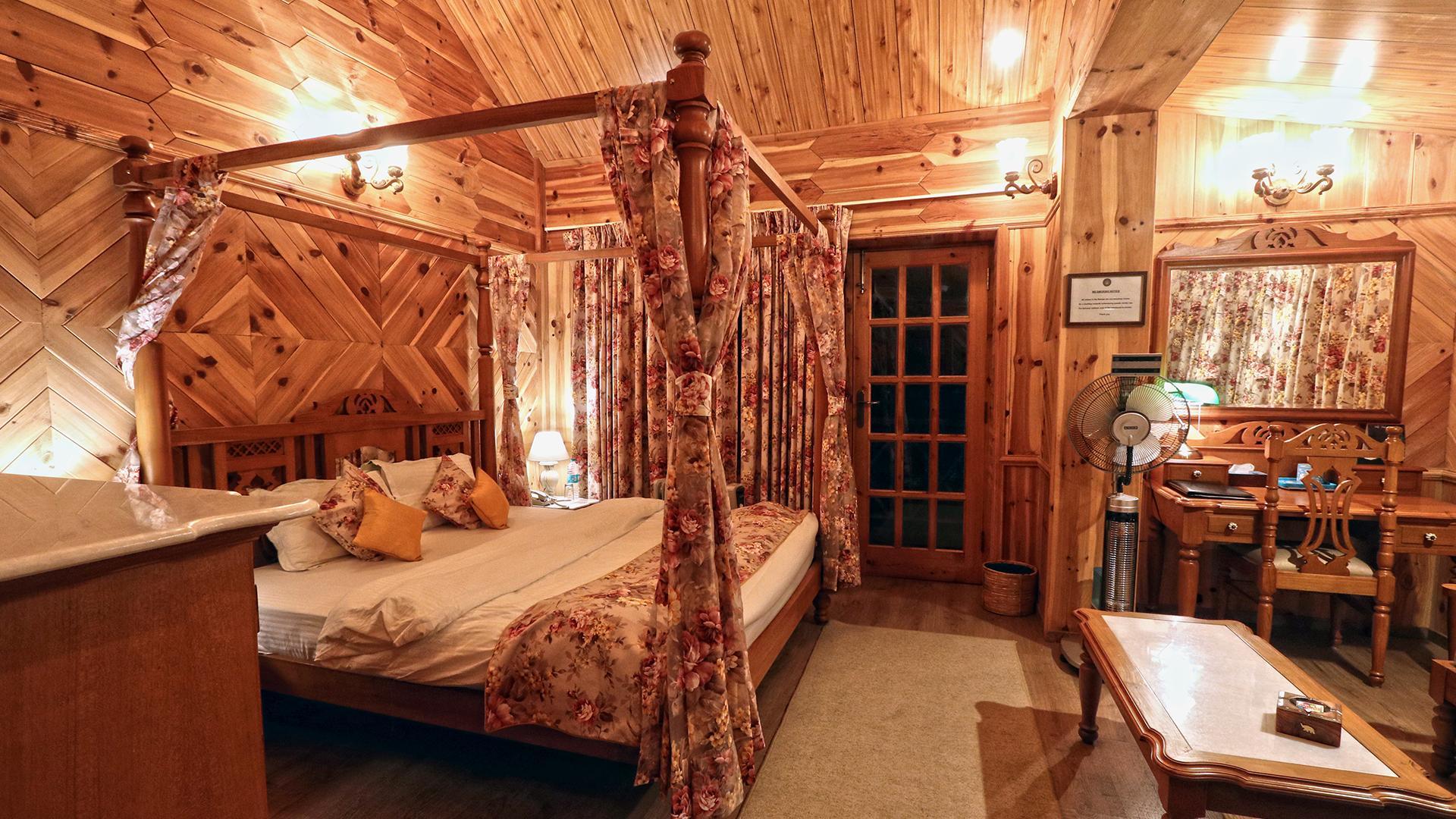 Deluxe Room image 1 at WelcomHeritage Urvashi's Retreat by Kullu, Himachal Pradesh, India