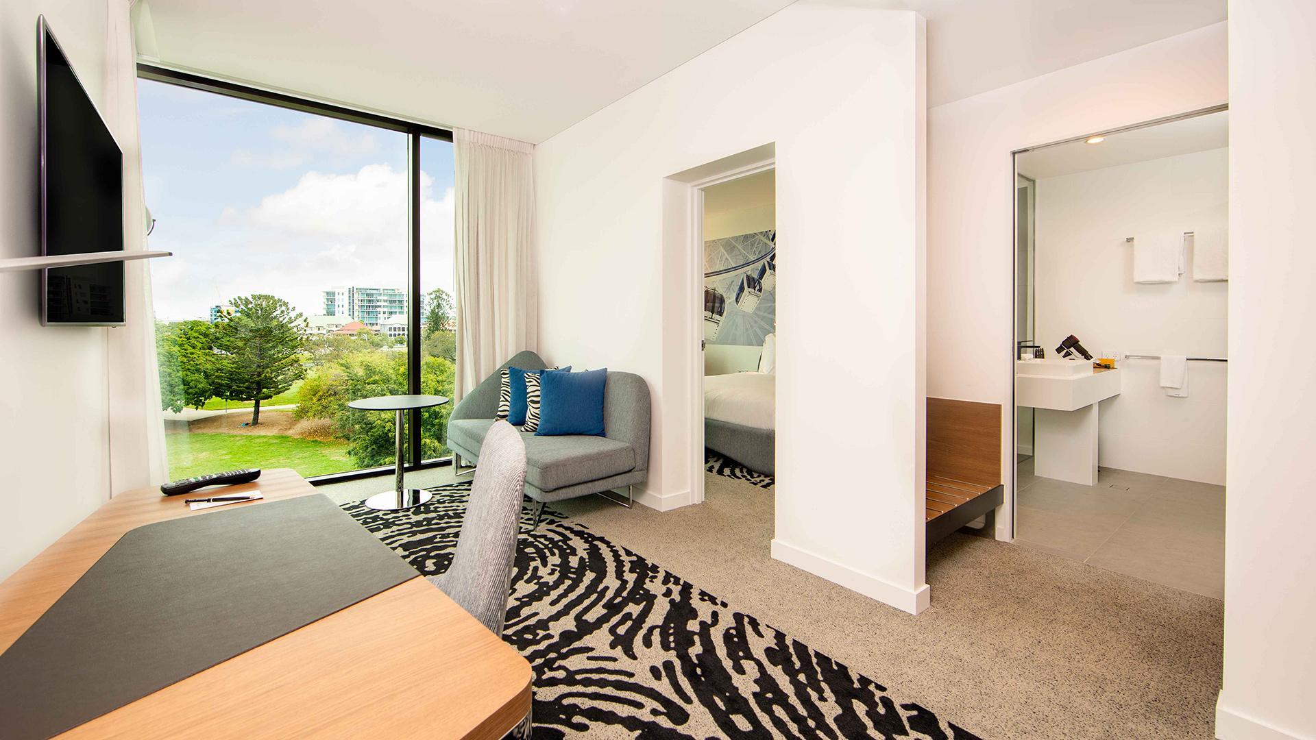 Junior 'N' Suite image 1 at Novotel Brisbane South Bank by Brisbane City, Queensland, Australia