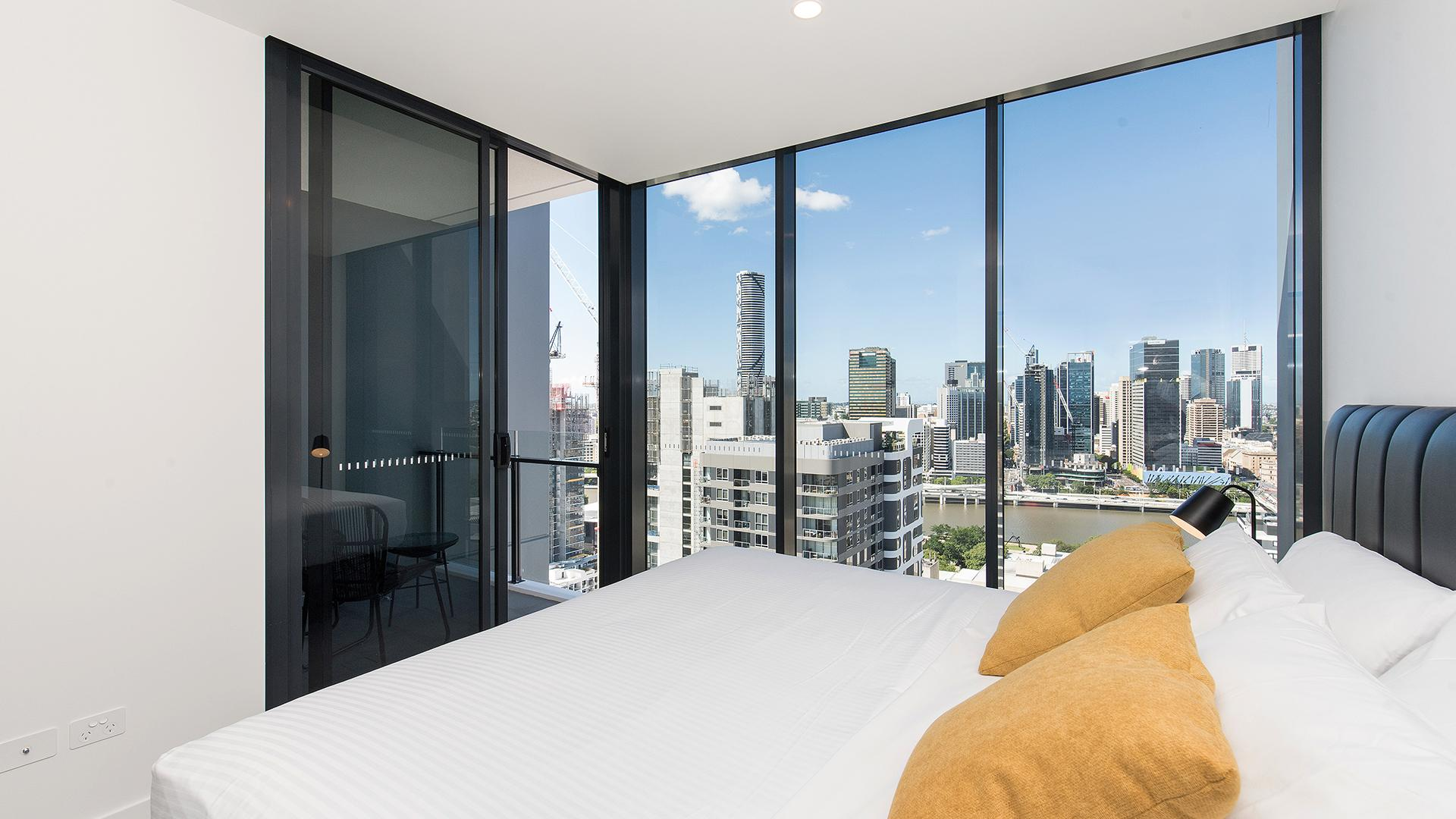 One-Bedroom Apartment with City View image 1 at Arise Ivy & Eve Apartments by Brisbane City, Queensland, Australia