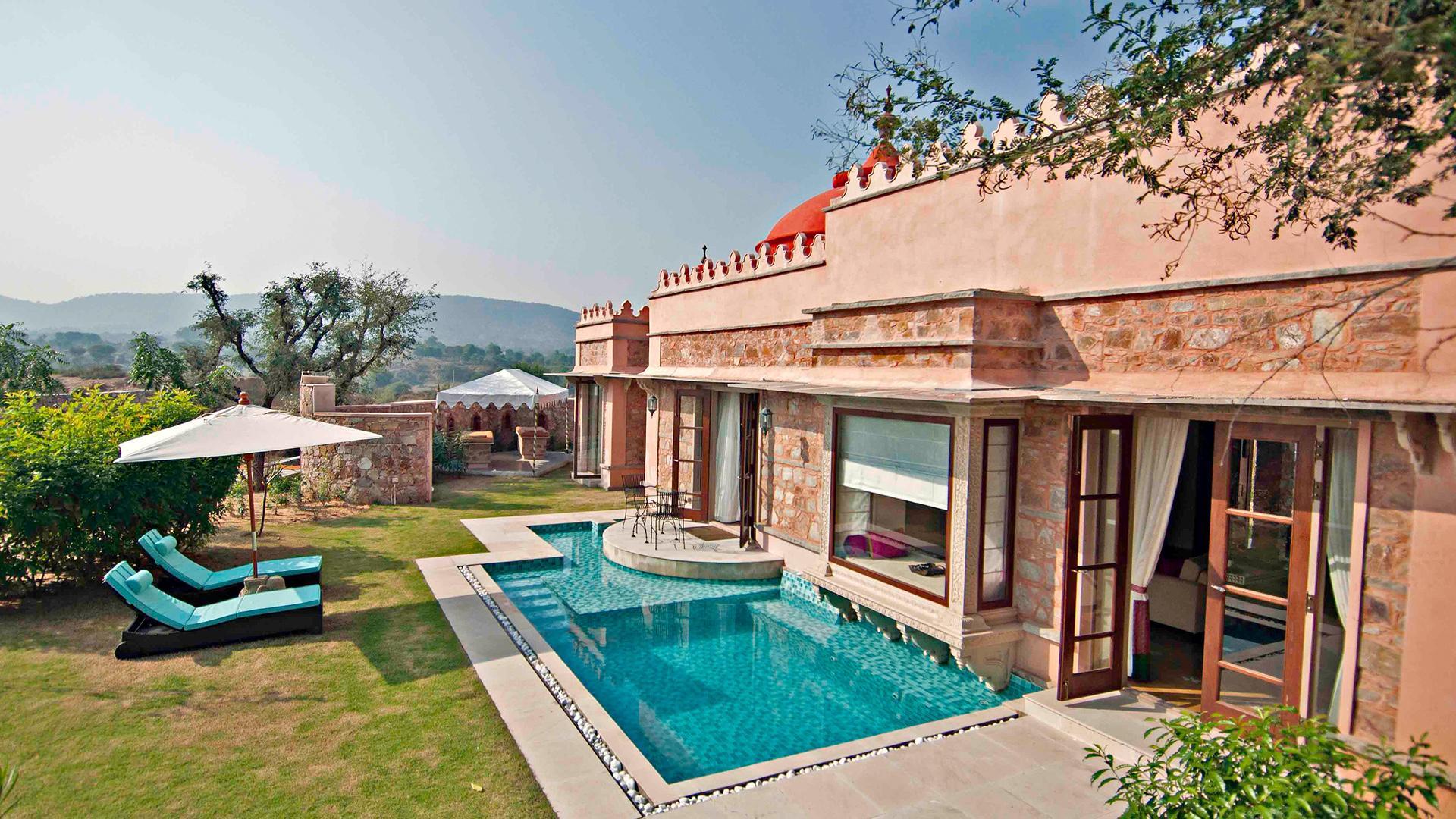 Luxury Pool & Spa Villa image 1 at The Tree of Life Resort & Spa by Jaipur, Rajasthan, India