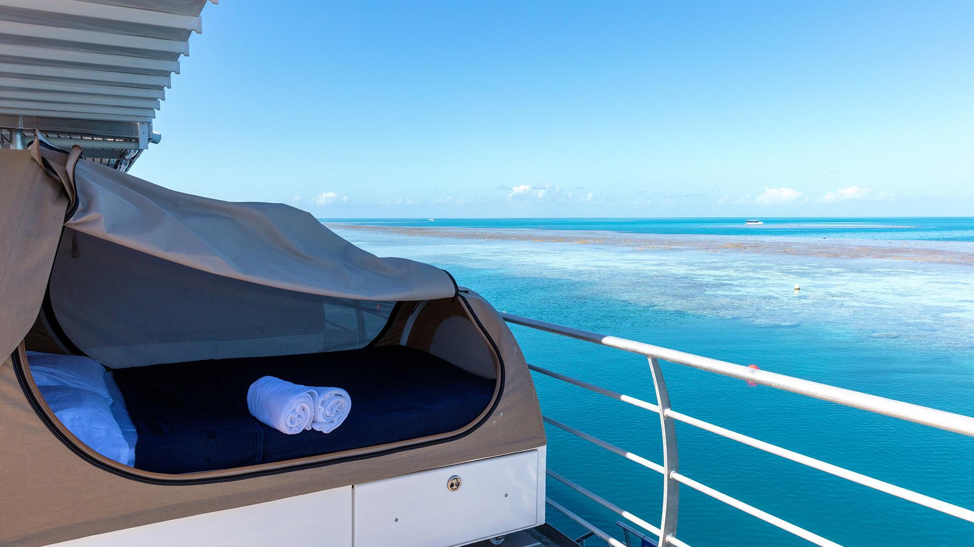 Reefbed (twin share) image 1 at Reefsleep — Cruise Whitsundays by Whitsunday Regional, Queensland, Australia