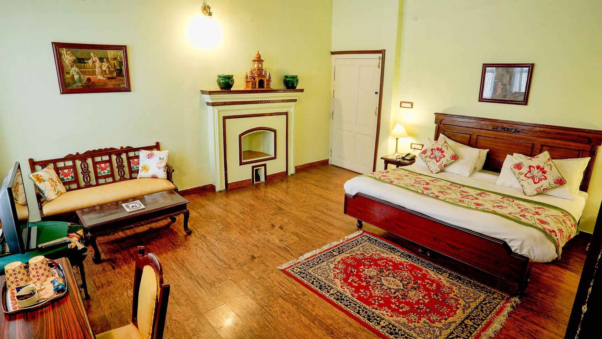 Deluxe Room image 1 at WelcomHeritage Kasmanda Palace Mussoorie by Dehradun, Uttarakhand, India