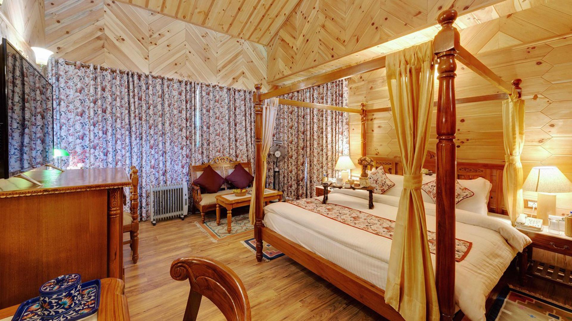 Premium Room image 1 at WelcomHeritage Urvashi's Retreat by Kullu, Himachal Pradesh, India