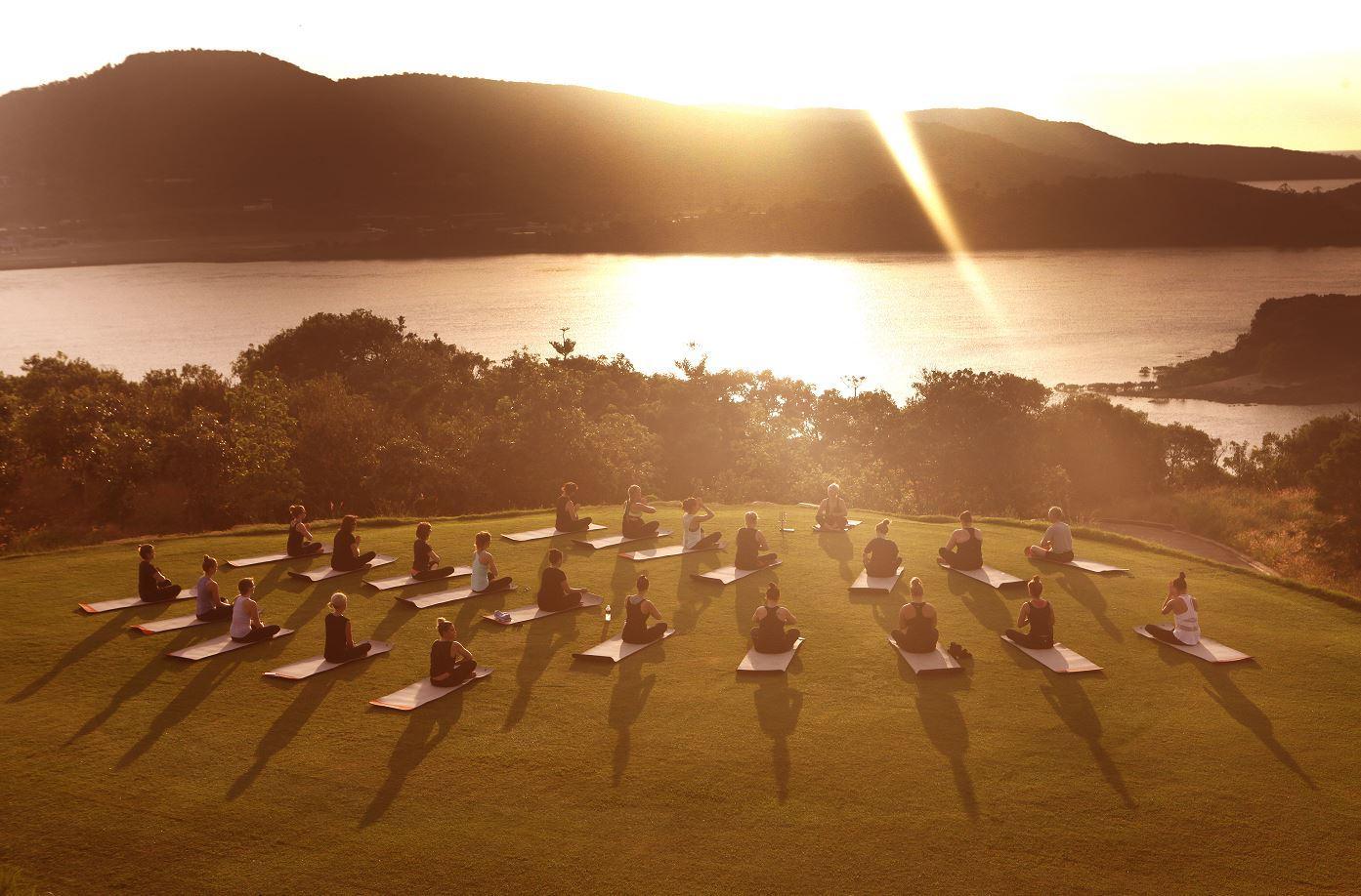 Dent Island yoga