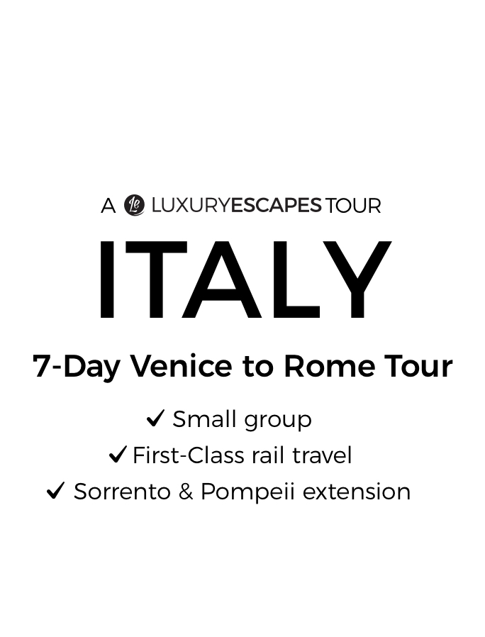 Italy by First-Class Rail: 7-Day Small-Group Tour from Venice to Rome with Gourmet Dining & Sorrento Extension
