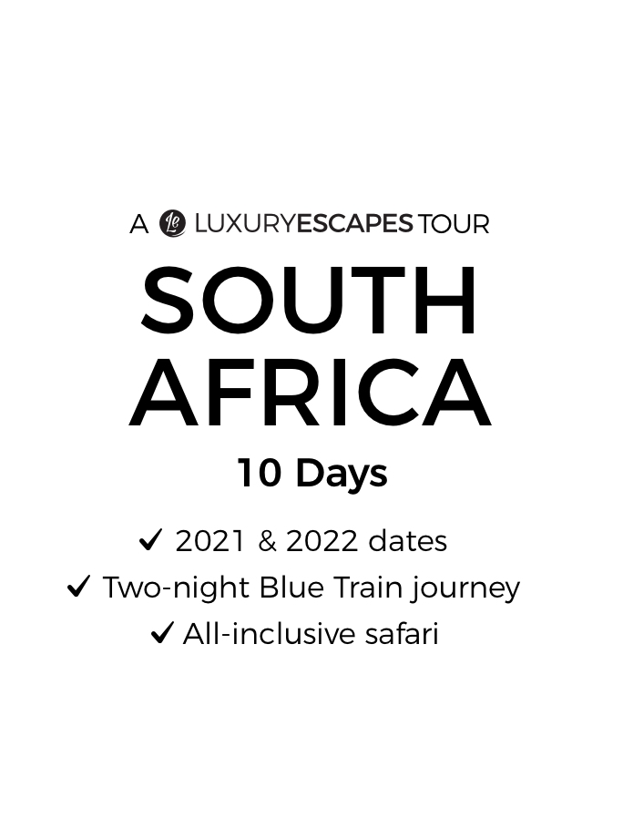 South Africa: 10-Day Luxury Tour with Prestigious Blue Train Journey & All-Inclusive Kruger Safari