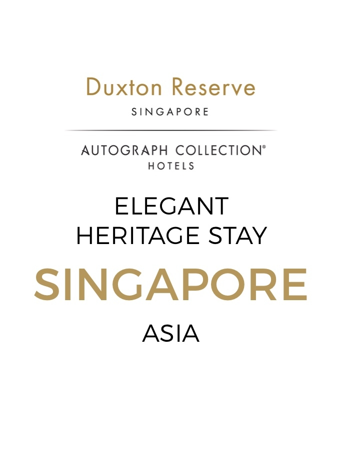 Singapore Award-Winning 19th-Century Boutique Elegance with Daily Breakfast, Cocktails & Dining Credit
