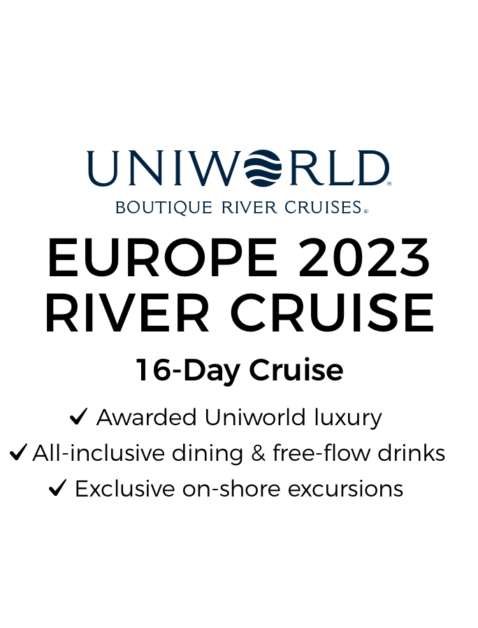 Exclusive Uniworld Charter 2023: 16-Day All-Inclusive Luxury European River Cruise from Amsterdam to Budapest