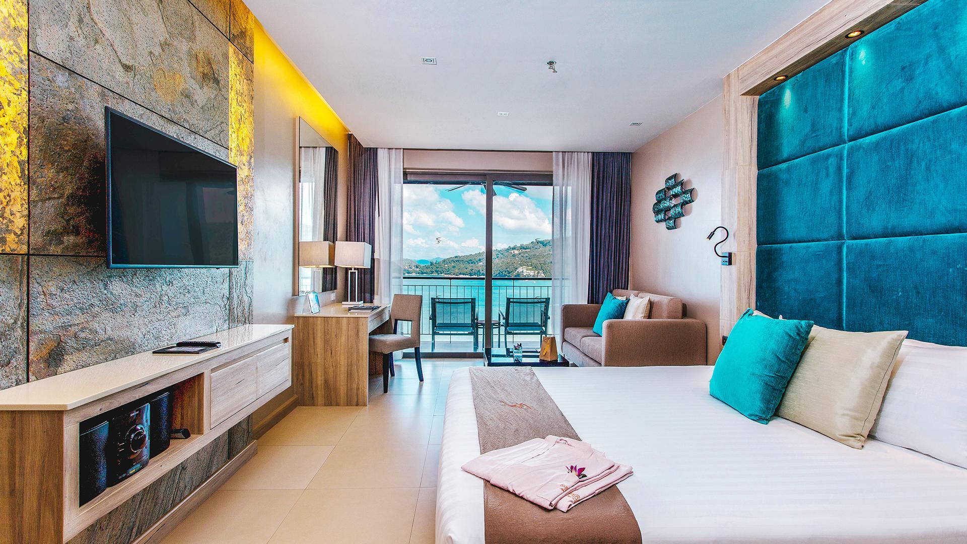 Sea View Studio Room image 1 at Cape Sienna Phuket Gourmet Hotel & Villas by Amphoe Kathu, Chang Wat Phuket, Thailand