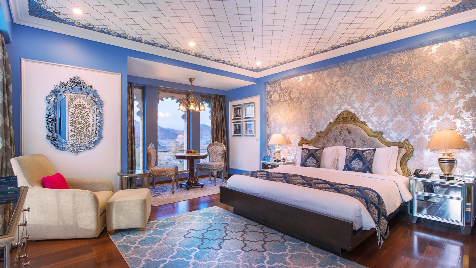 Premium Suite image 1 at Radisson Blu Udaipur Palace Resort and Spa by Udaipur, Rajasthan, India