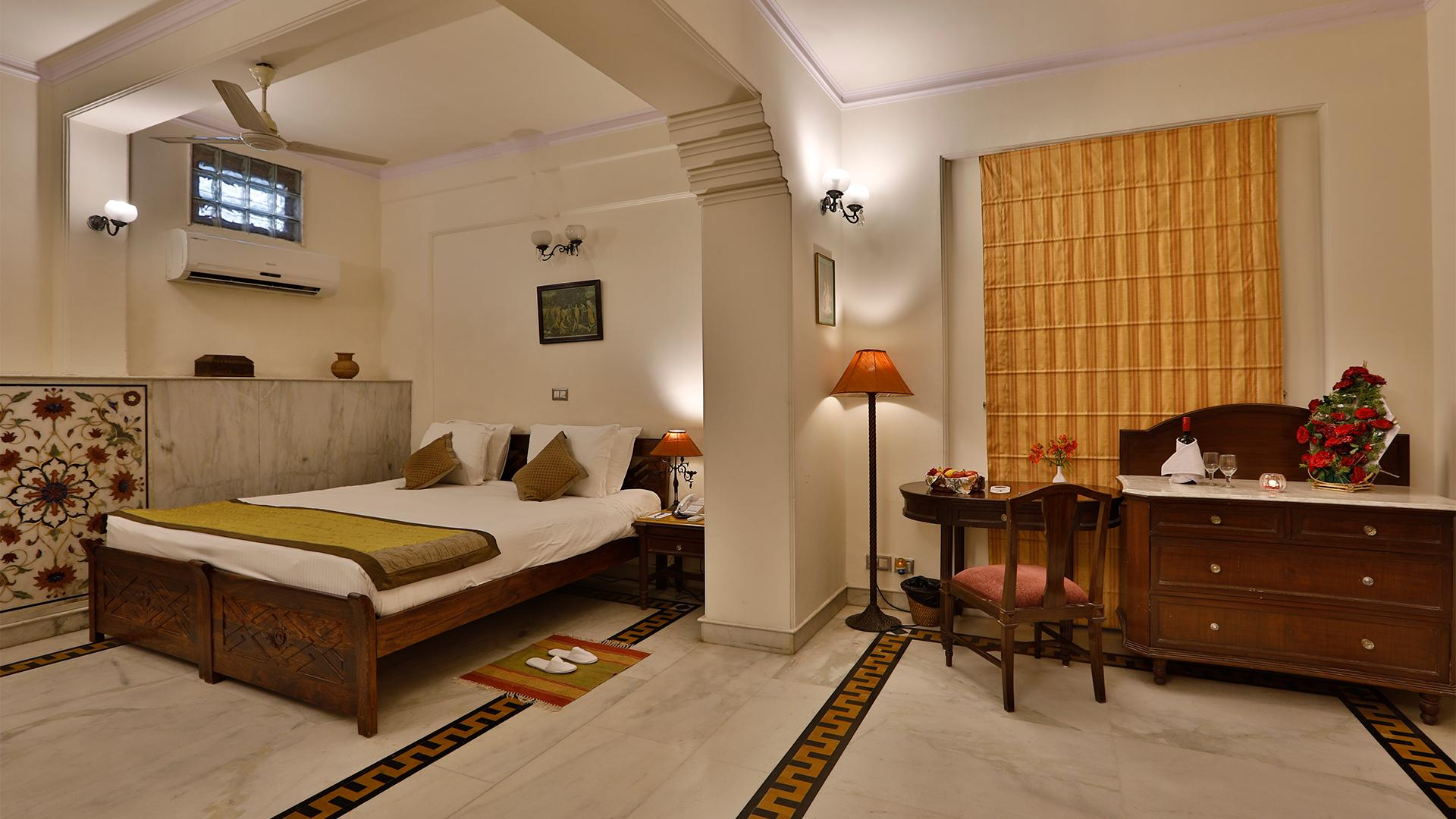 Deluxe Heritage Room image 1 at The Bagh by Bharatpur, Rajasthan, India