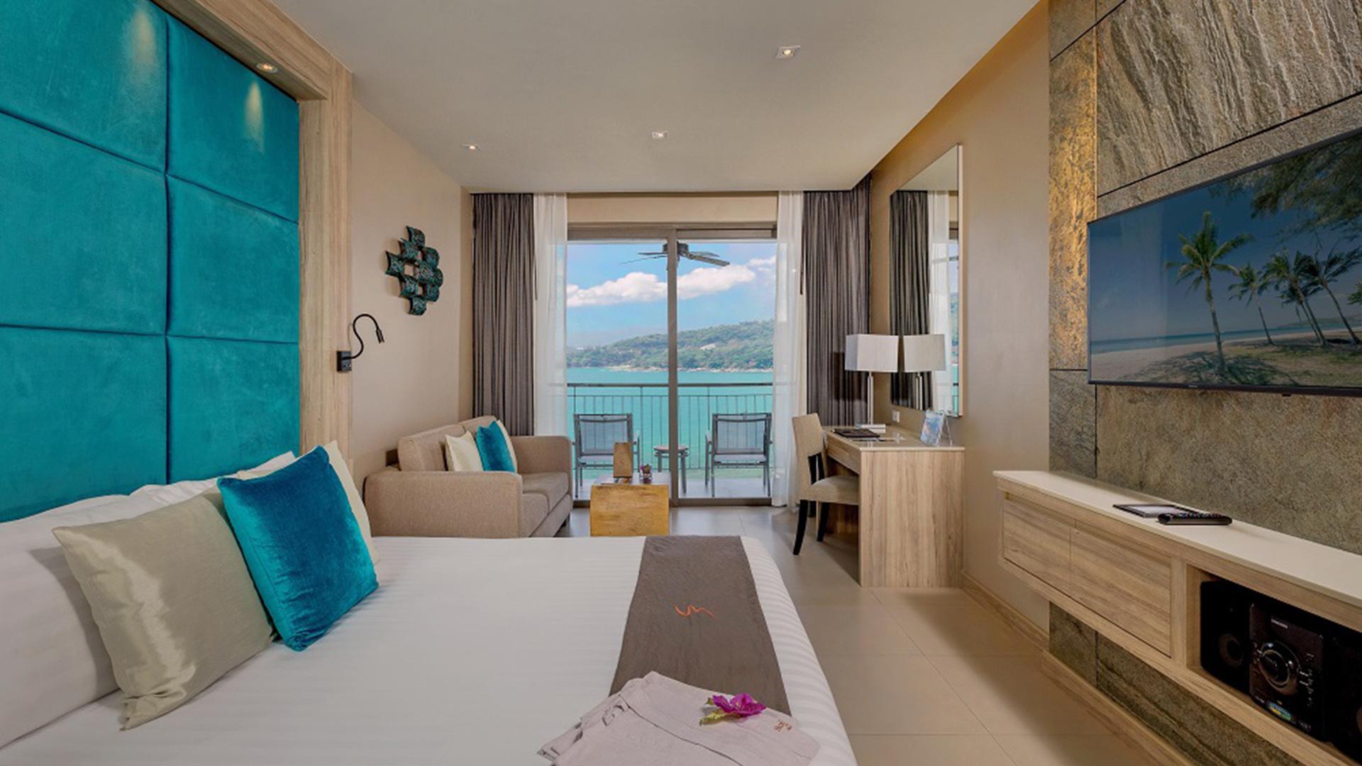 Sea View Deluxe Room image 1 at Cape Sienna Phuket Gourmet Hotel & Villas by Amphoe Kathu, Chang Wat Phuket, Thailand