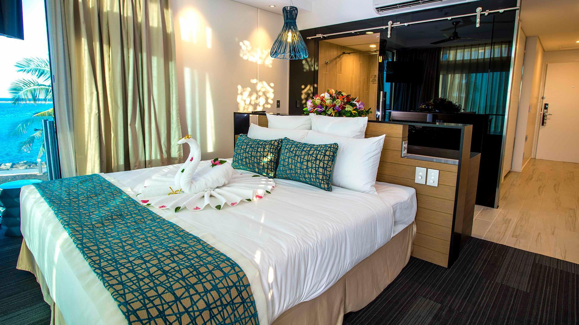 Oceanview Room King image 1 at Taumeasina Island Resort by null, Tuamasaga, Samoa