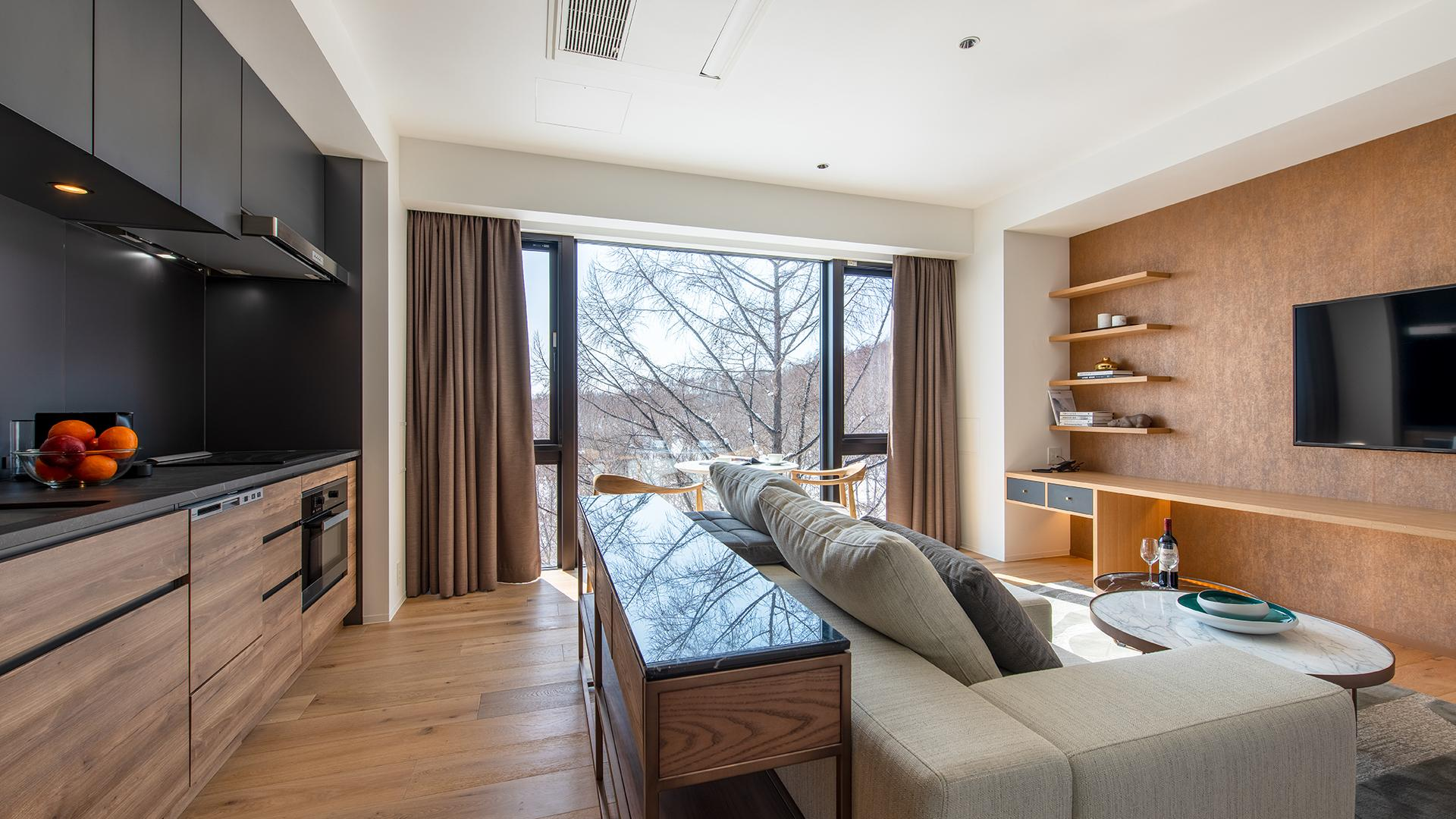 One-Bedroom Deluxe Apartment image 1 at Intuition Niseko by Abuta District, Hokkaido, Japan