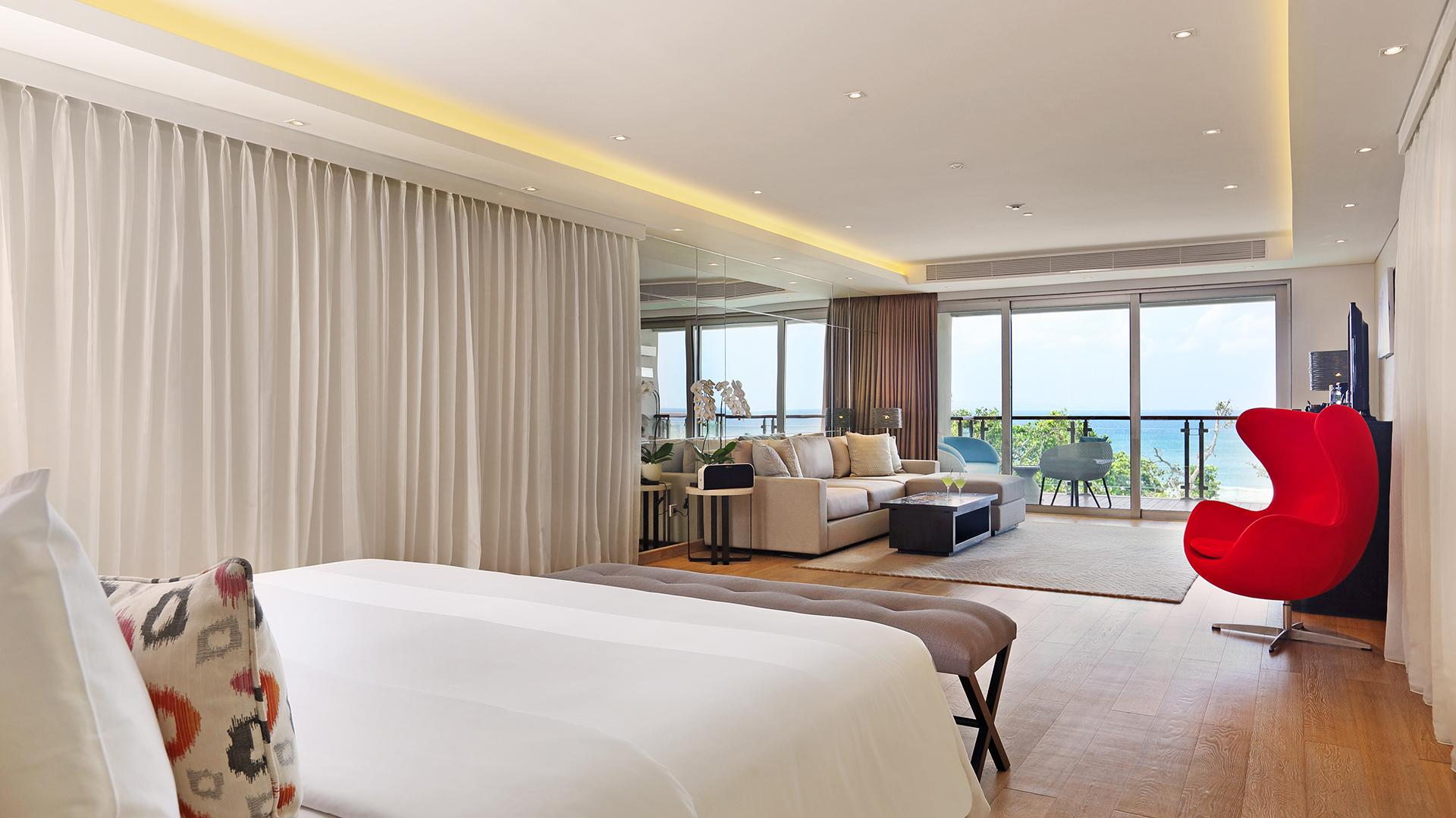 Deluxe Suite Ocean View image 1 at Double-Six Luxury Hotel - July 2019 by Kabupaten Badung, Bali, Indonesia