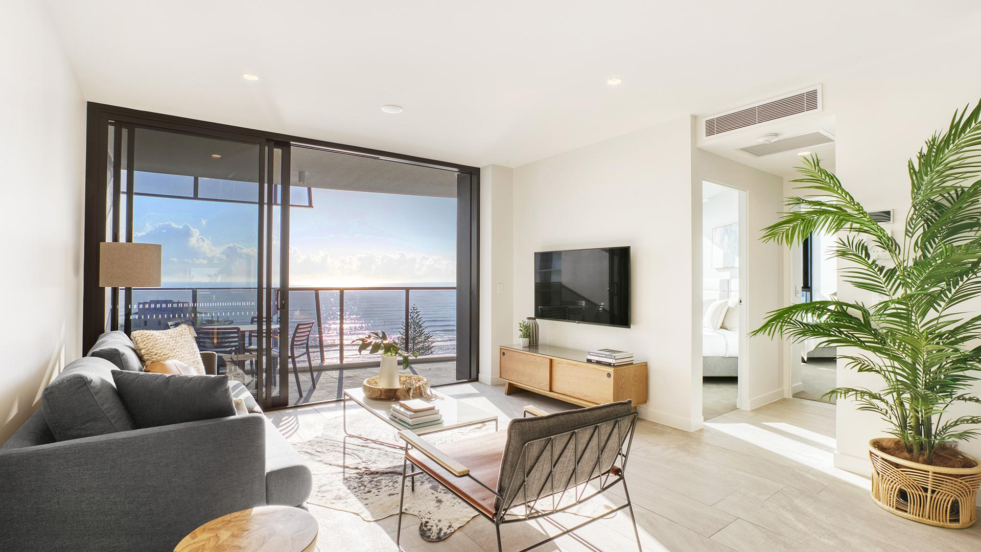 Two-Bedroom Ocean-View Apartment image 1 at Vue Broadbeach by City of Gold Coast, Queensland, Australia
