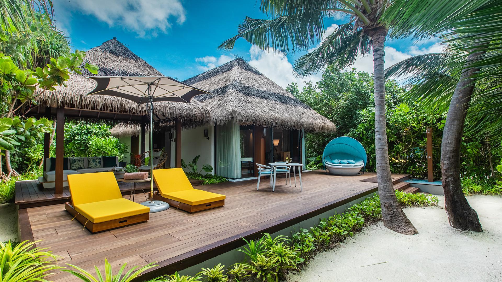 Beach Villa image 1 at Pullman Maldives Maamutaa Resort by null, Upper South Province, Maldives