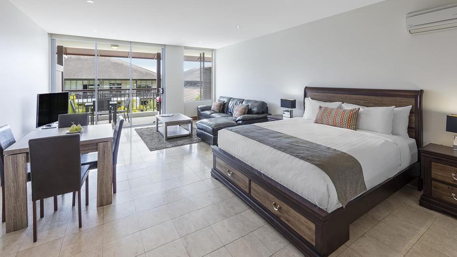 Studio Apartment image 1 at Oaks Santai Resort Casuarina Jan 2020 by Tweed Shire Council, New South Wales, Australia
