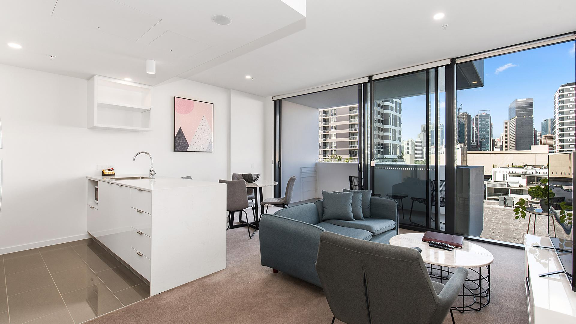 Two-Bedroom Apartment image 1 at Arise Ivy & Eve Apartments by Brisbane City, Queensland, Australia