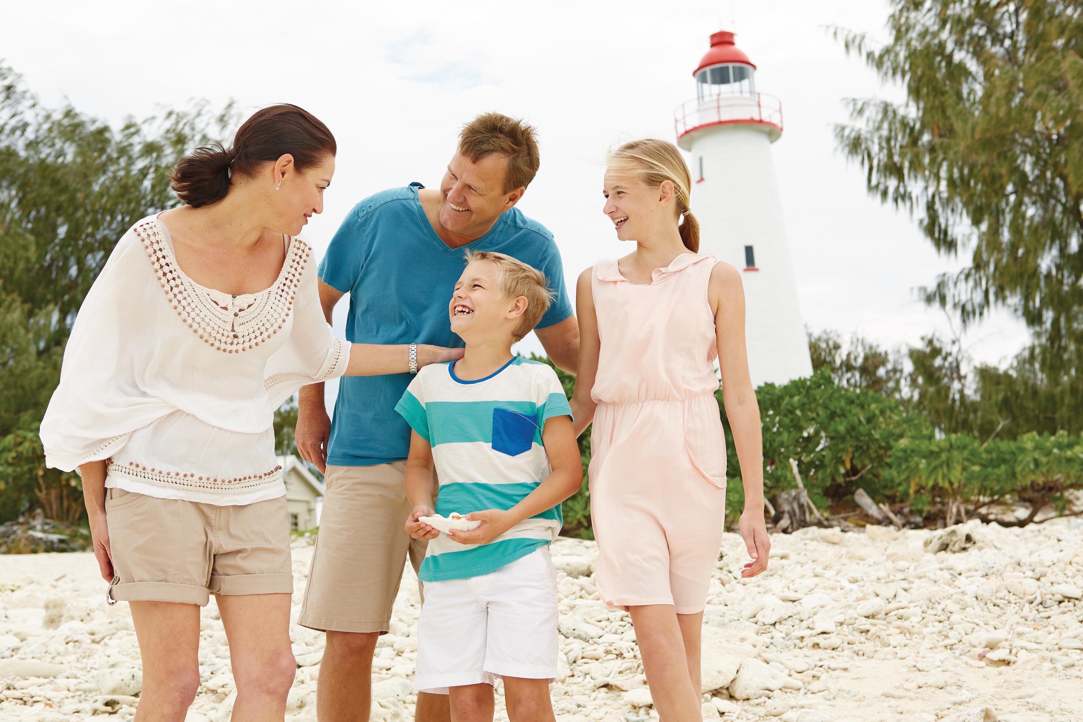 Family fun on Lady Elliot Island